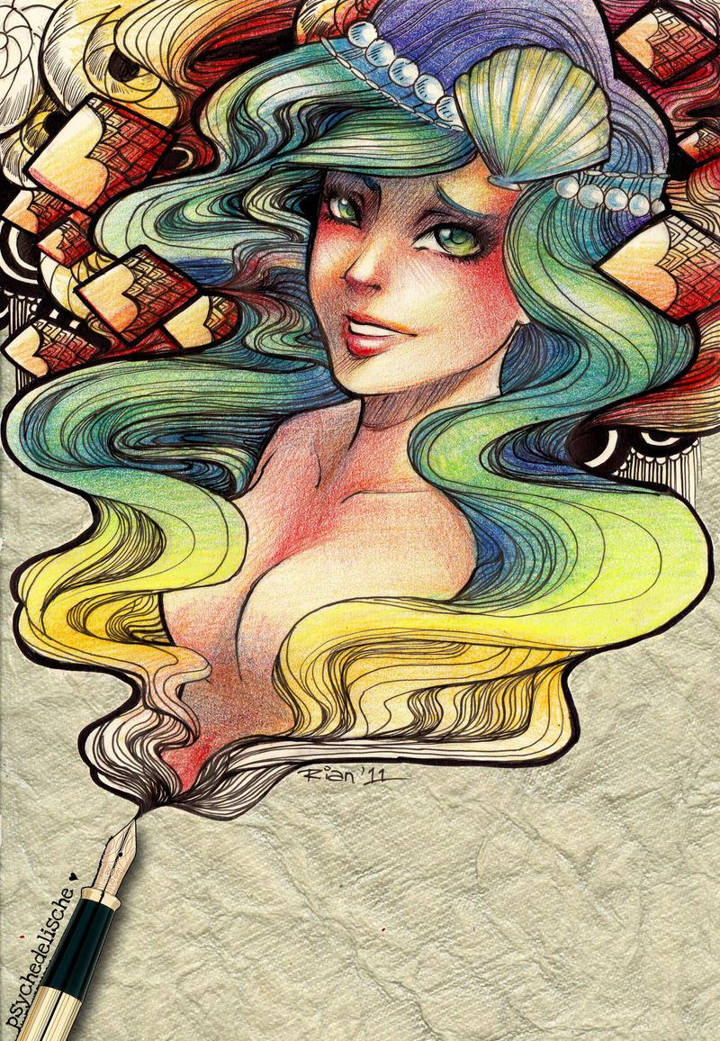 Mermaid by rianbowart