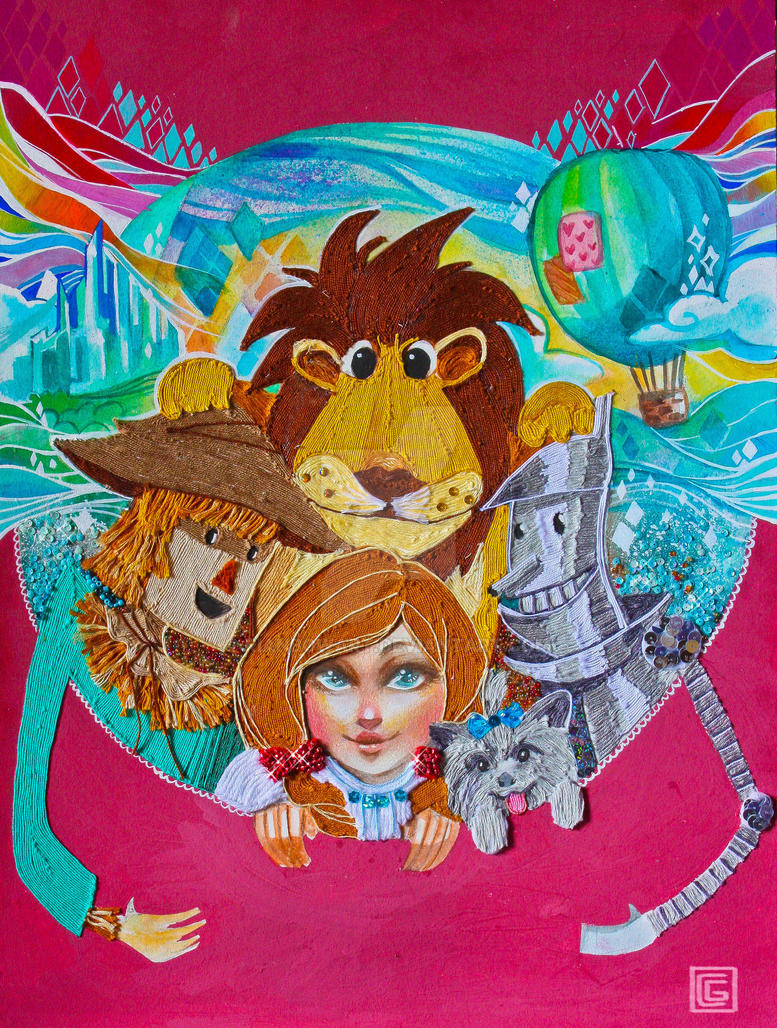Thread Art: The Wizard of Oz by rianbowart