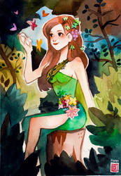 Maria Makiling by rianbowart