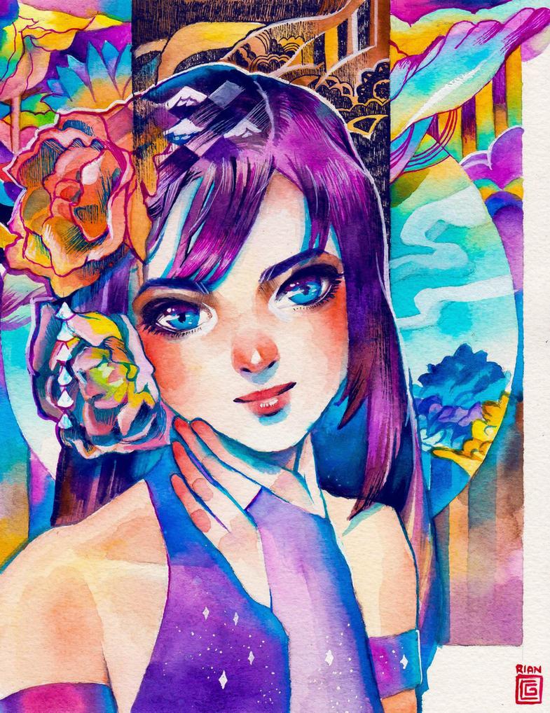 Psylocke by rianbowart