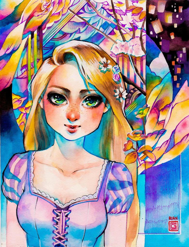 Rapunzel by rianbowart