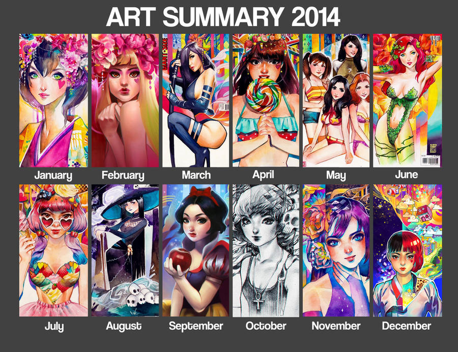 Art Summary 2014 by rianbowart