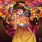Flowers Series: Sunflower Girl