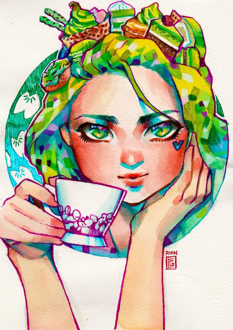 Matcha Girl by rianbowart