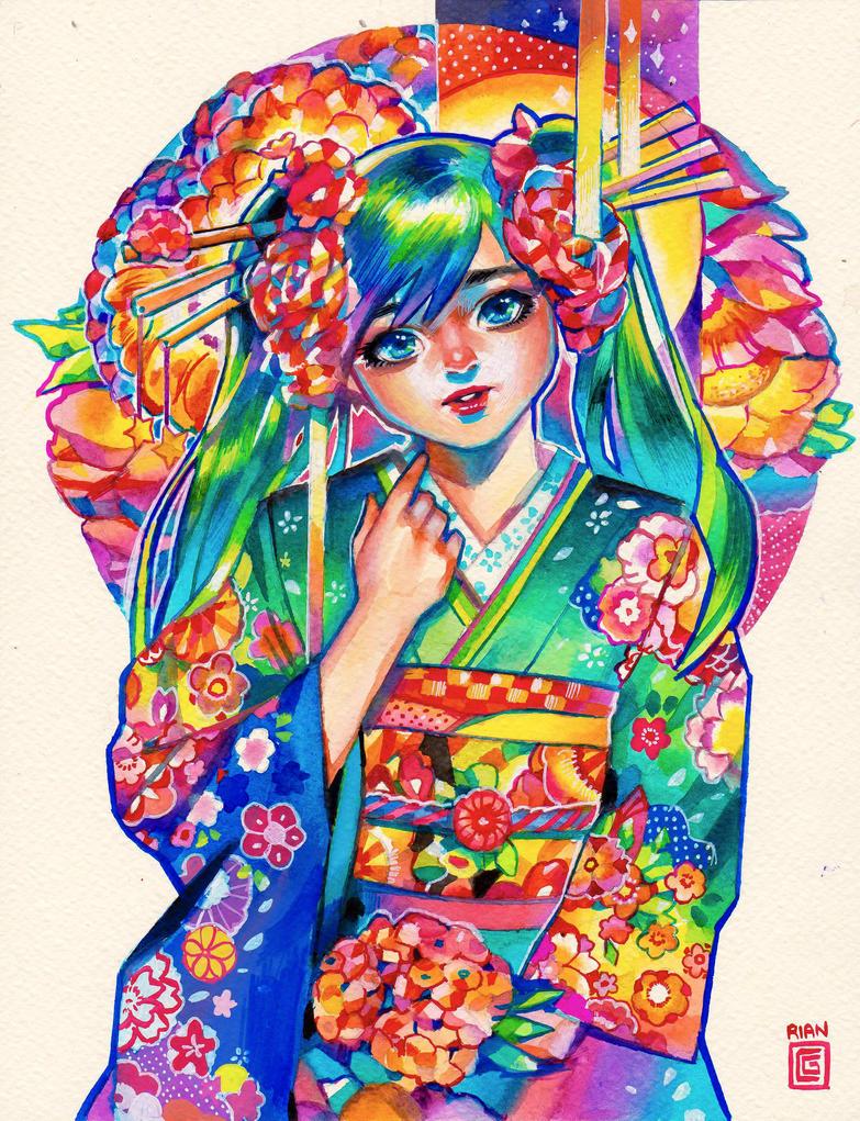 Hatsune Miku by rianbowart