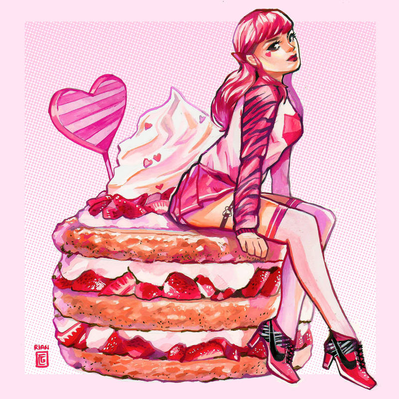 Strawberry Pink by rianbowart