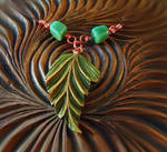 GREEN LEAF PENDANT with TOURMALINES