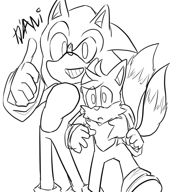 Best Friend lineart by sonicgir7467