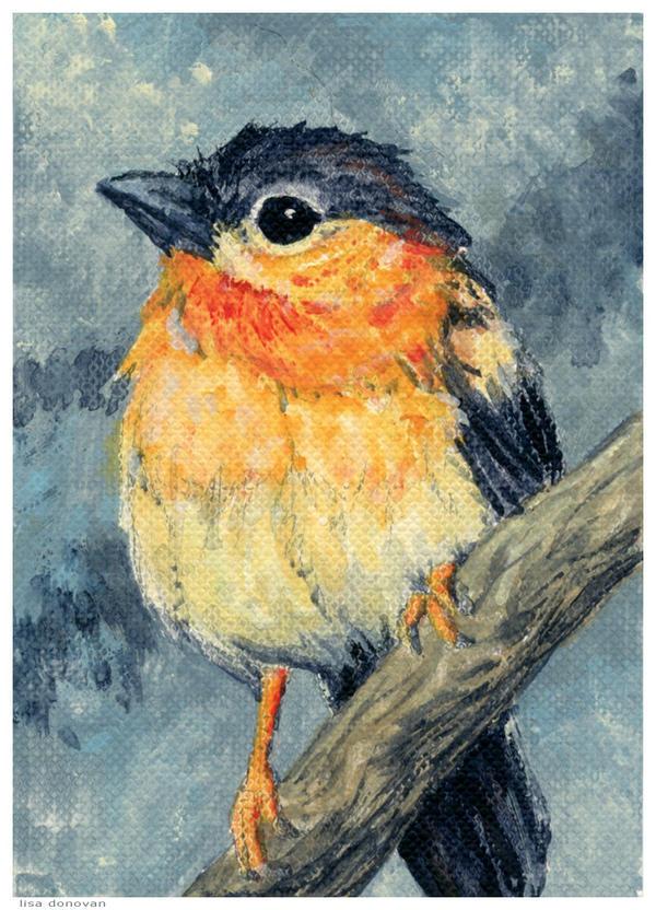 Lil Bird in acrylic