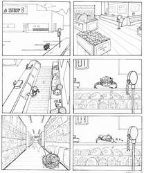 Deli Comic Storyboards pg1 by LisaCrowBurke