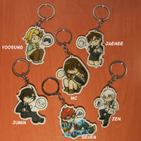 Mystic Messenger keychains by staptra