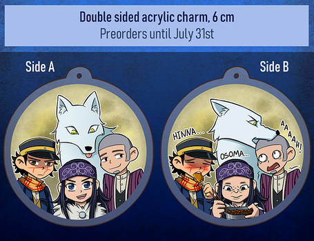 Golden Kamuy charm