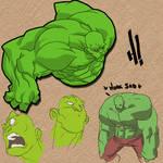 Hulk: color sketches