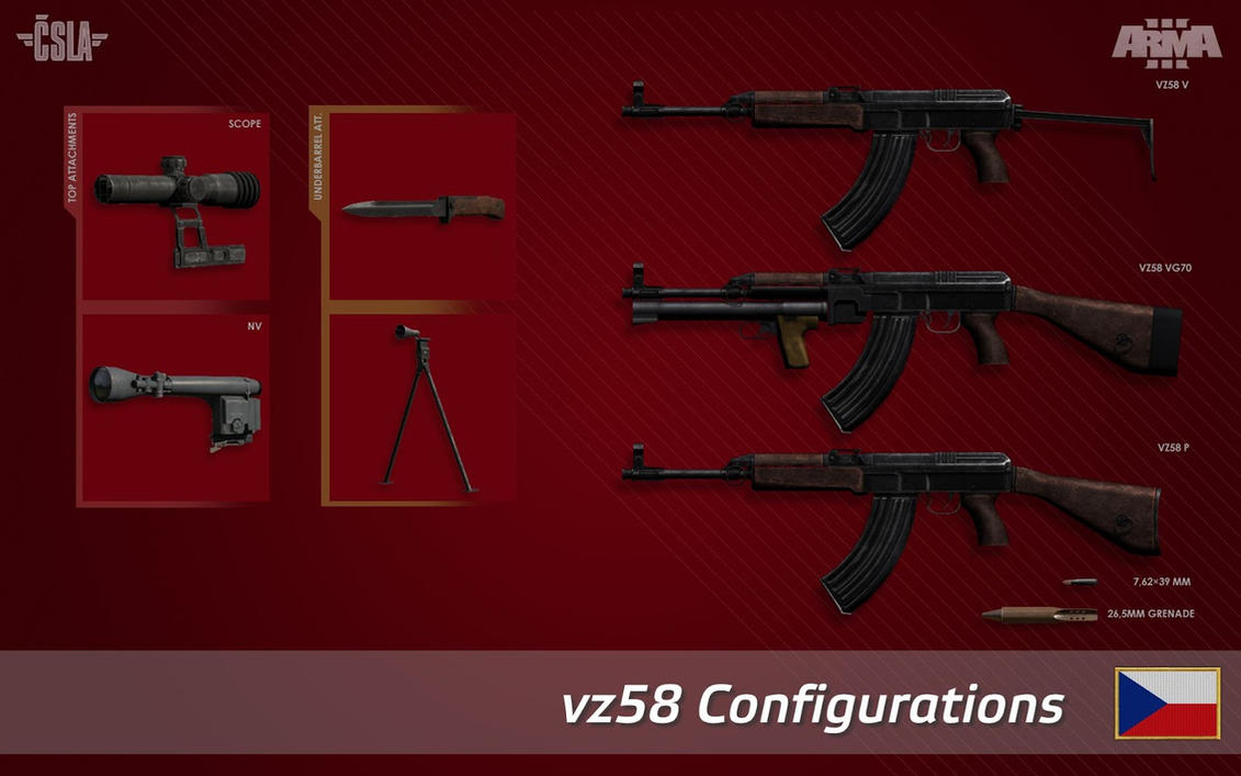 vz 58 configurations by Yano-t11