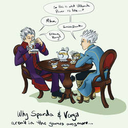 Sparda and Vergil's tea party