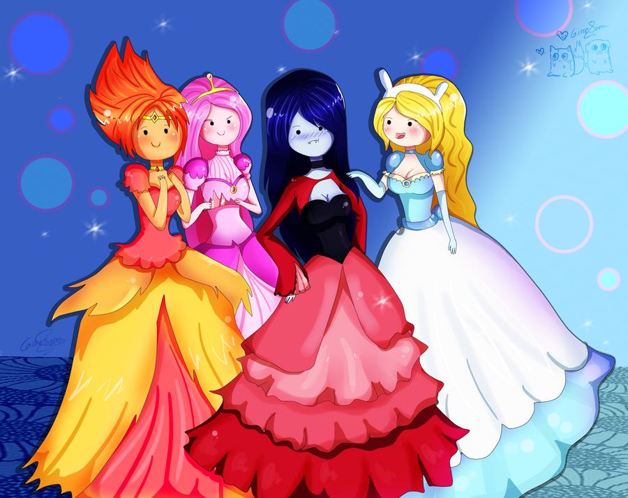 AdventureTime_girls by Gimesama