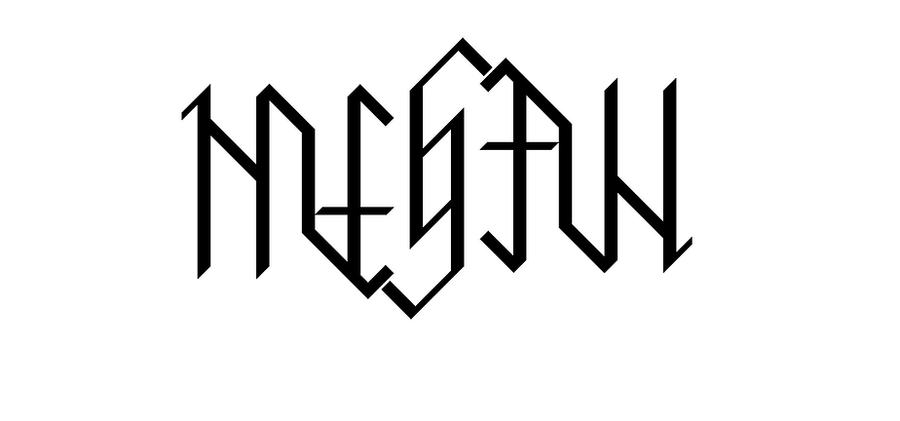 Ambigram megan by sockman on deviantart for Tattoo shop name generator
