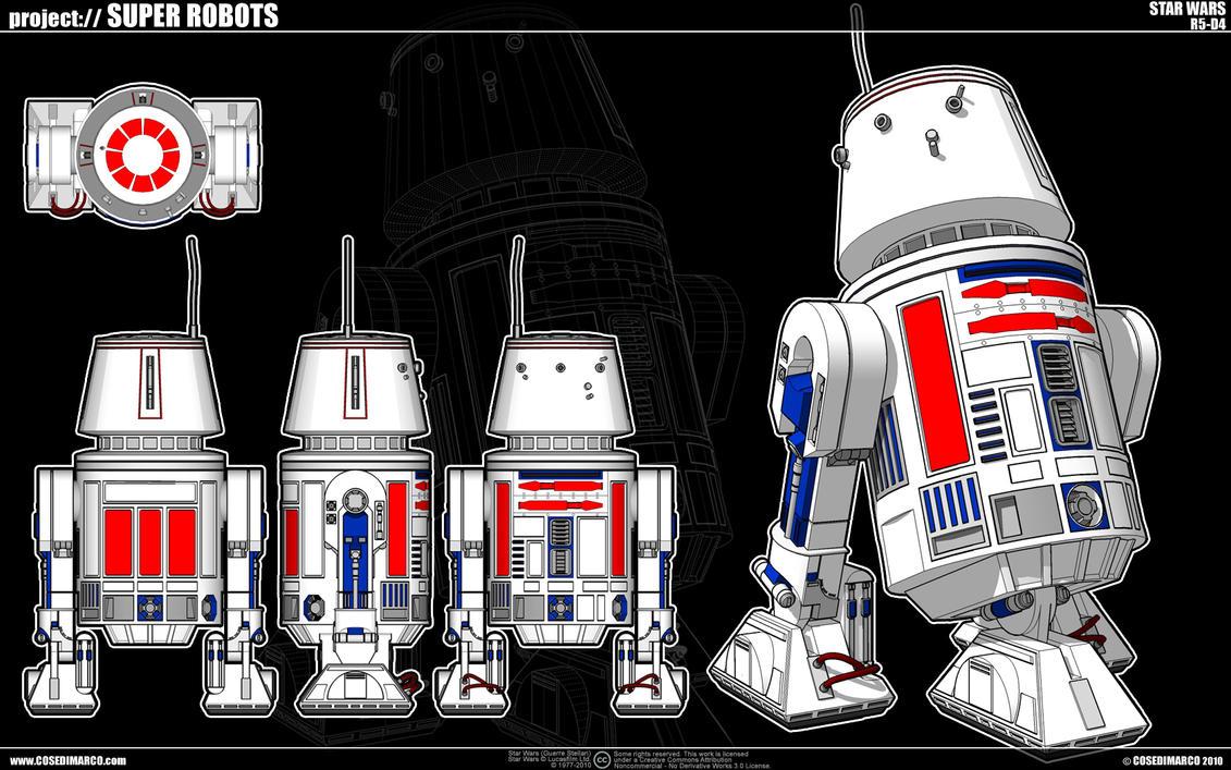 Star Wars - R5-D4 by cosedimarco