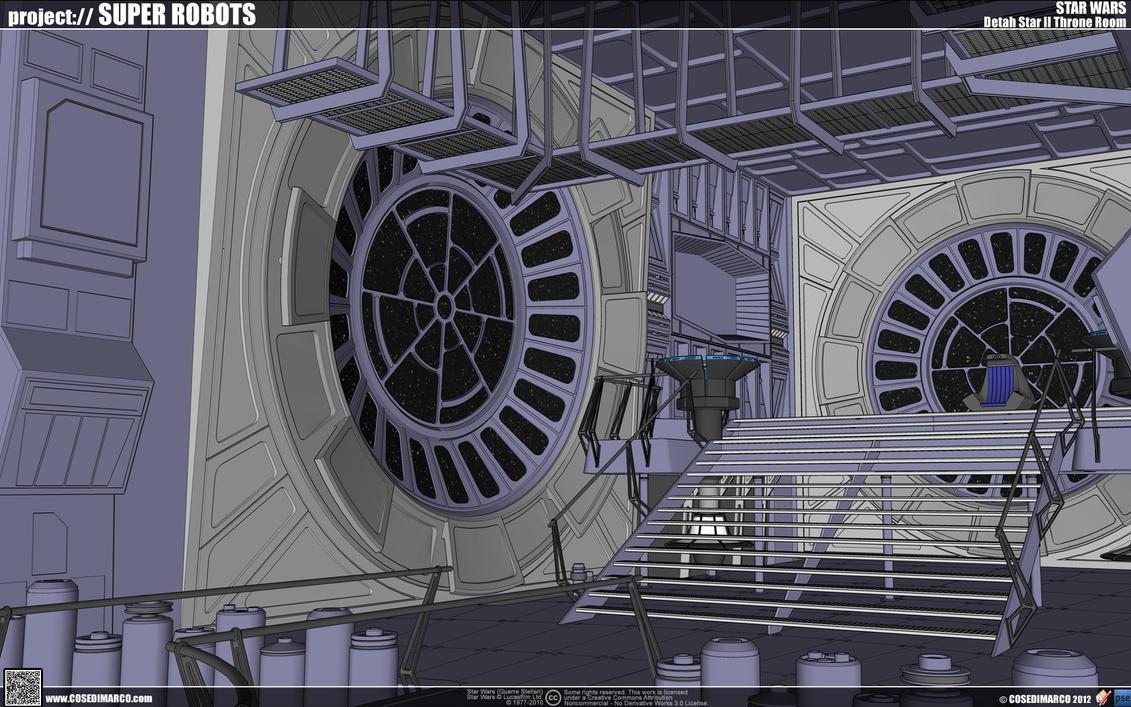 Death Star Throne Room Mini Game Pattern