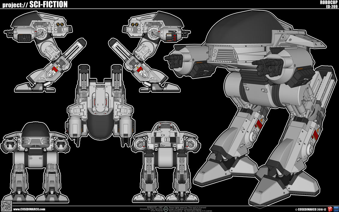Ed 209 By Cosedimarco On Deviantart