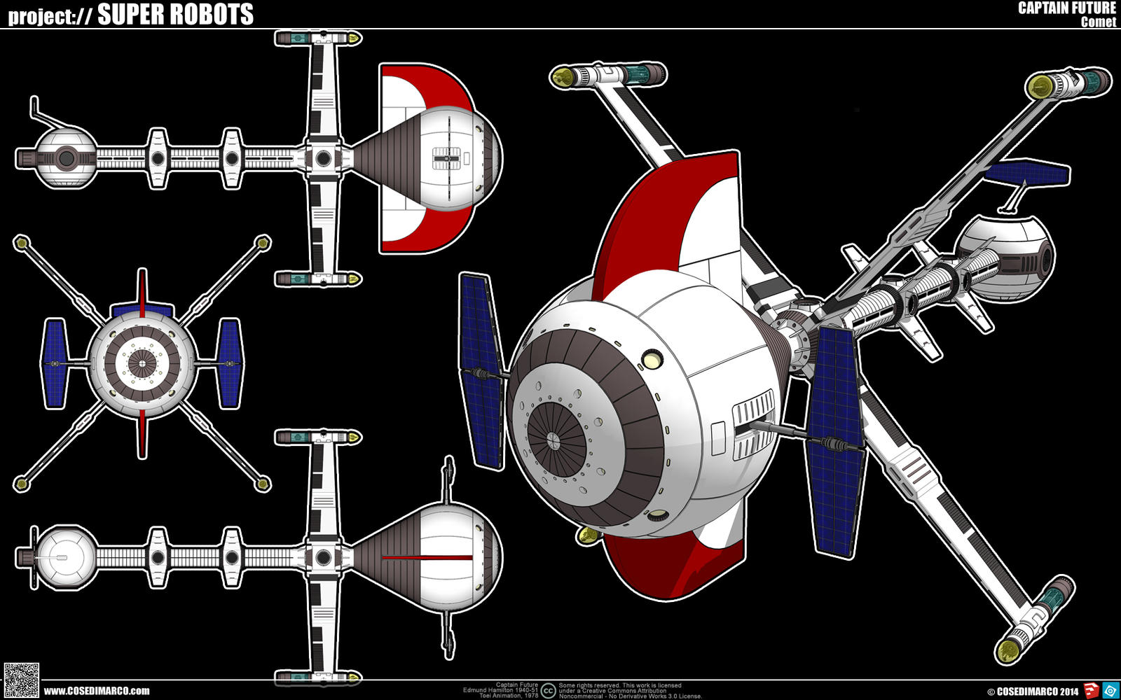Captain Future S Comet Spaceship By Cosedimarco On Deviantart