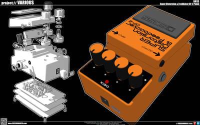 Super Distordion FeedbakerDF-2 BOSS PEDAL