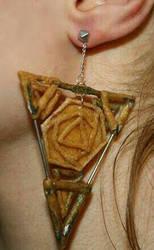 Bayonetta2 main earrings wip