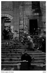 Pigeon Shit Mosque Woman by garonshark