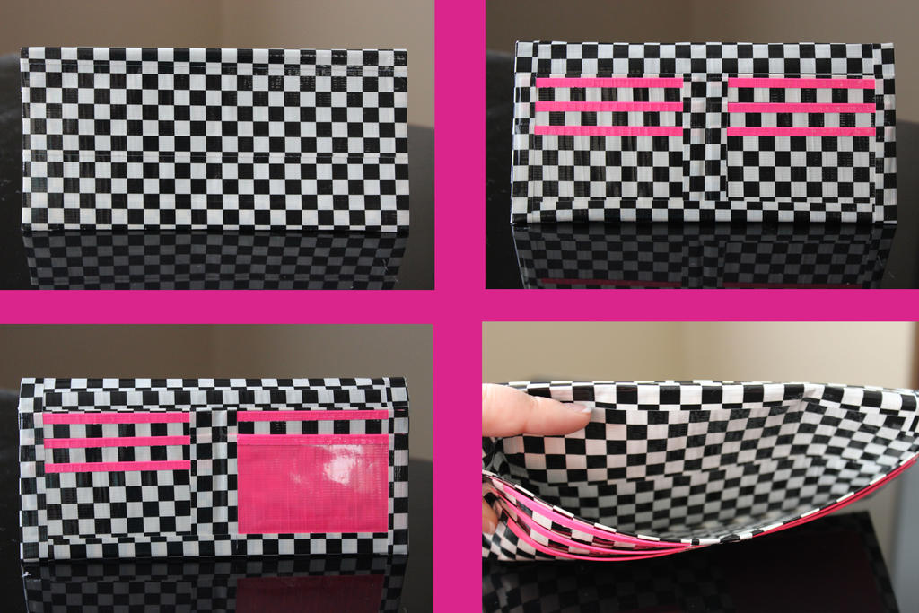 Checked Duct Tape Wallet by Caitlondie on DeviantArt