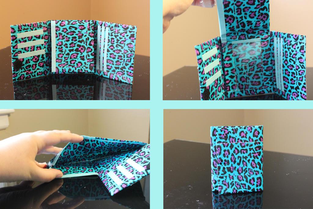 Duct Tape Wallet Trifold Cheetah tri-fold bi-fold