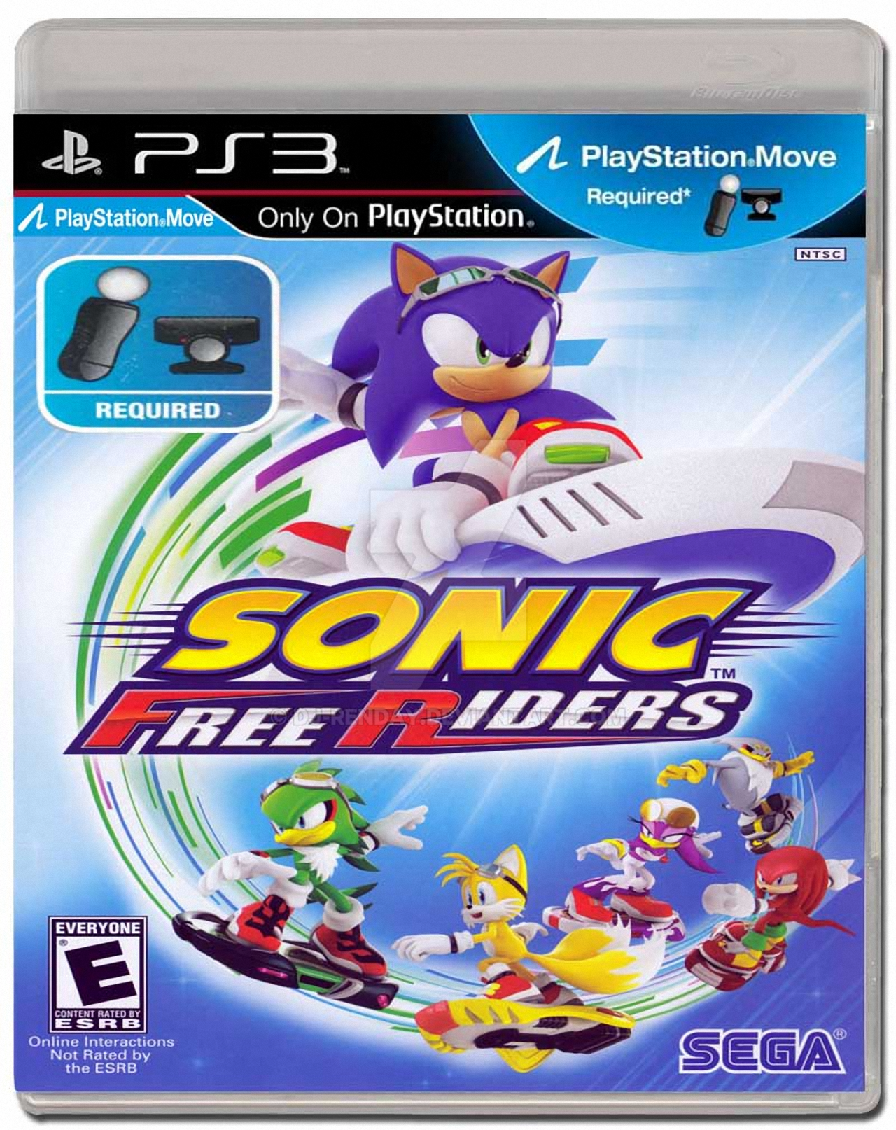 Sonic Games For Ps3 : Sonic free riders ps move box art alpha by dj renday on