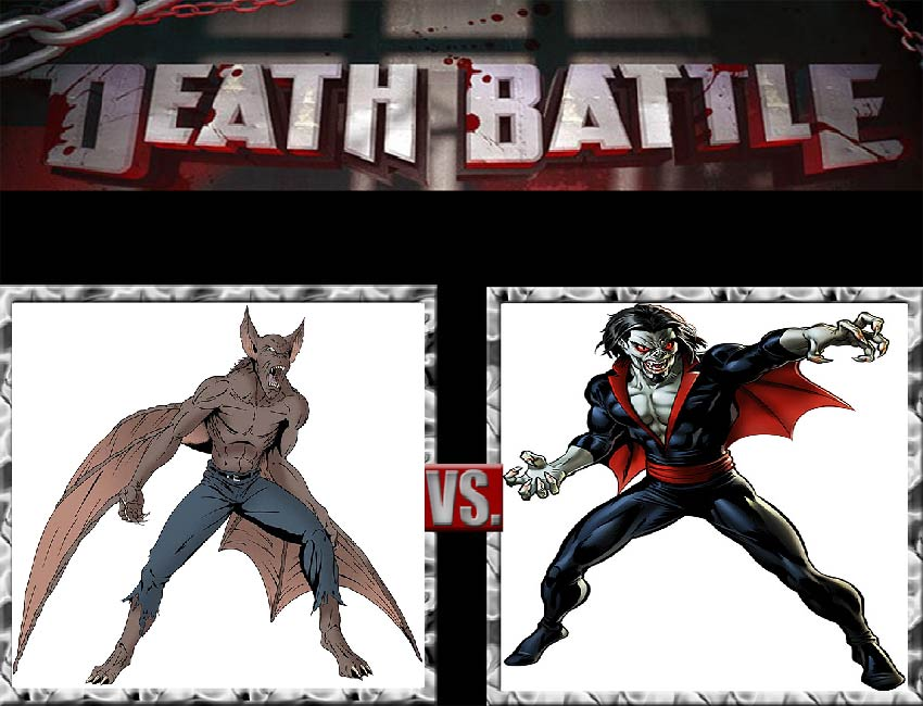 Request #9 Man-Bat vs Morbius, the Living Vampire by LukeAlanBundesen