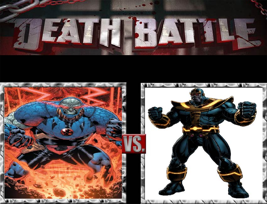 Request #40 Darkseid vs Thanos by LukeAlanBundesen