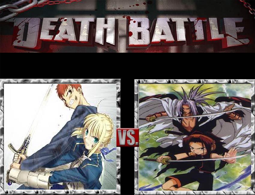 Request #78 Shiro and Saber vs Yoh and Amidamaru by LukeAlanBundesen