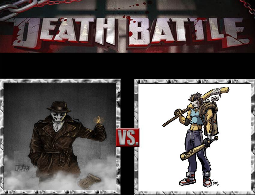 Request #93 Rorschach vs Casey Jones by LukeAlanBundesen