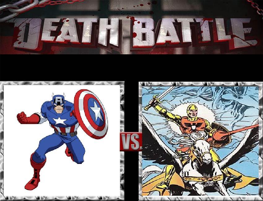 Request #164 Captain America vs Shining Knight by LukeAlanBundesen