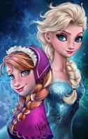 Let it go - Frozen Sisters by Yasmine-Arts