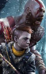 Kratos by Yasmine-Arts