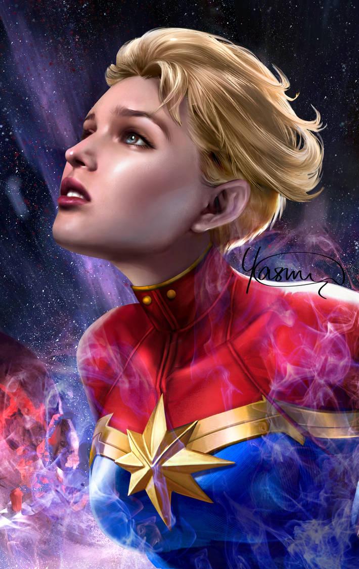 Captain Marvel by Yasmine-Arts