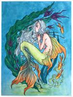 Mermay 2017, watercolor painting