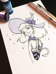 Purple witch, Inktober 2017