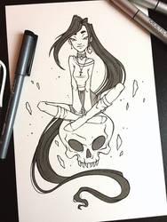Skull witch, Inktober 2017