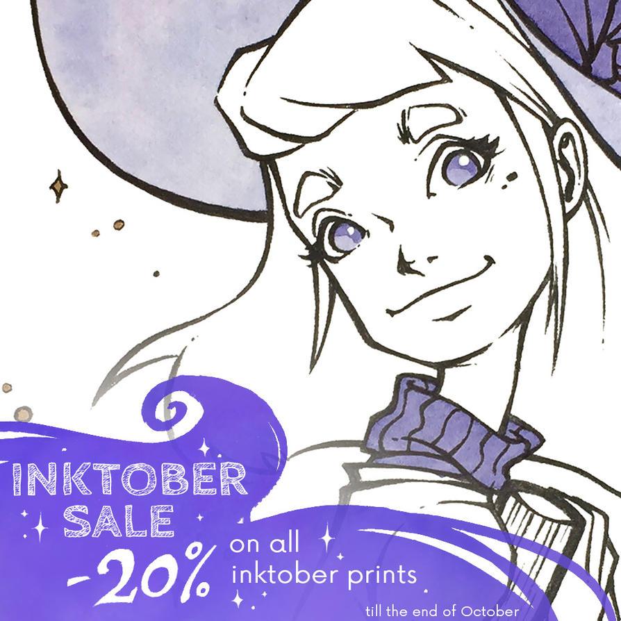 Big Inktober sale in my online store! by MKmiec