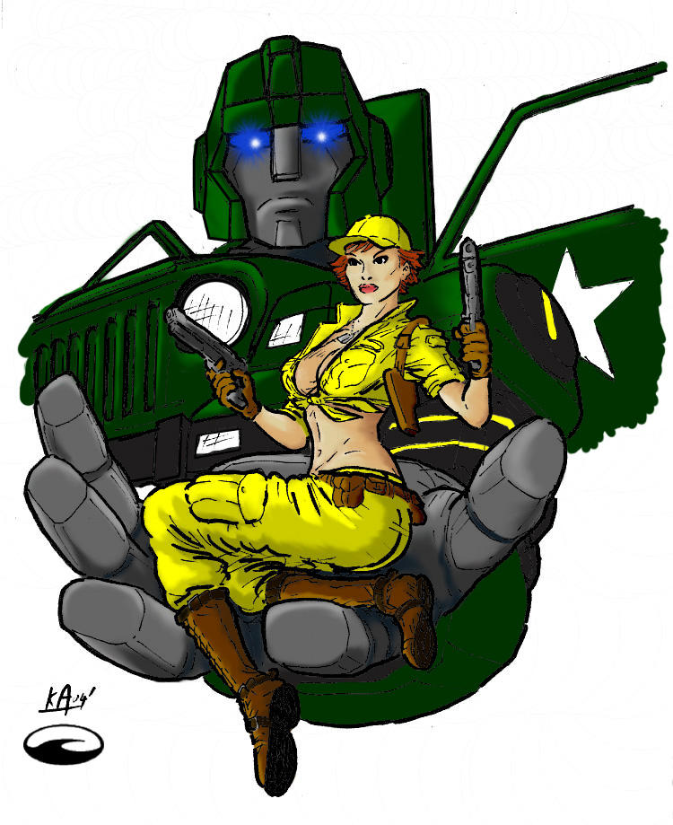 Lady Jaye and Hound by MrMunkeepants