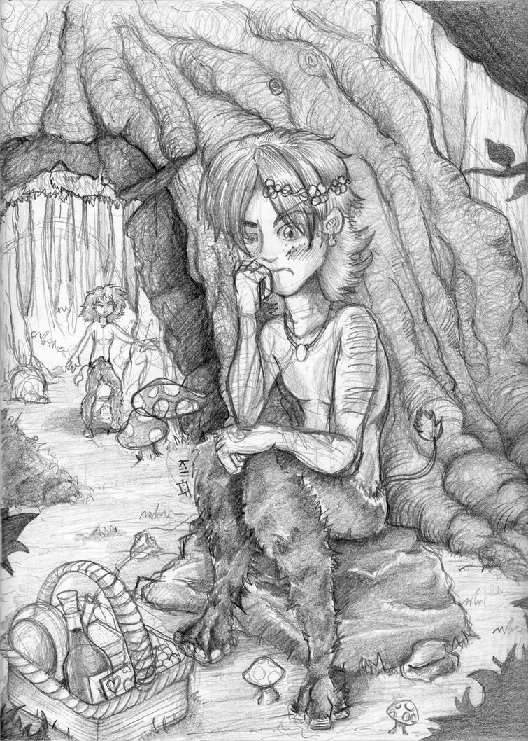 The Waiting Satyr by kiliberto
