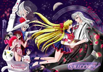 Sailor V X Kunzite...and Phantom Ace by anemoneploy