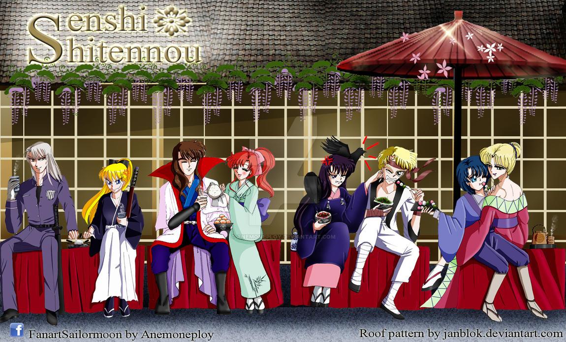 Shitennou X Inner senshi crossover Rurouni Kenshin by anemoneploy