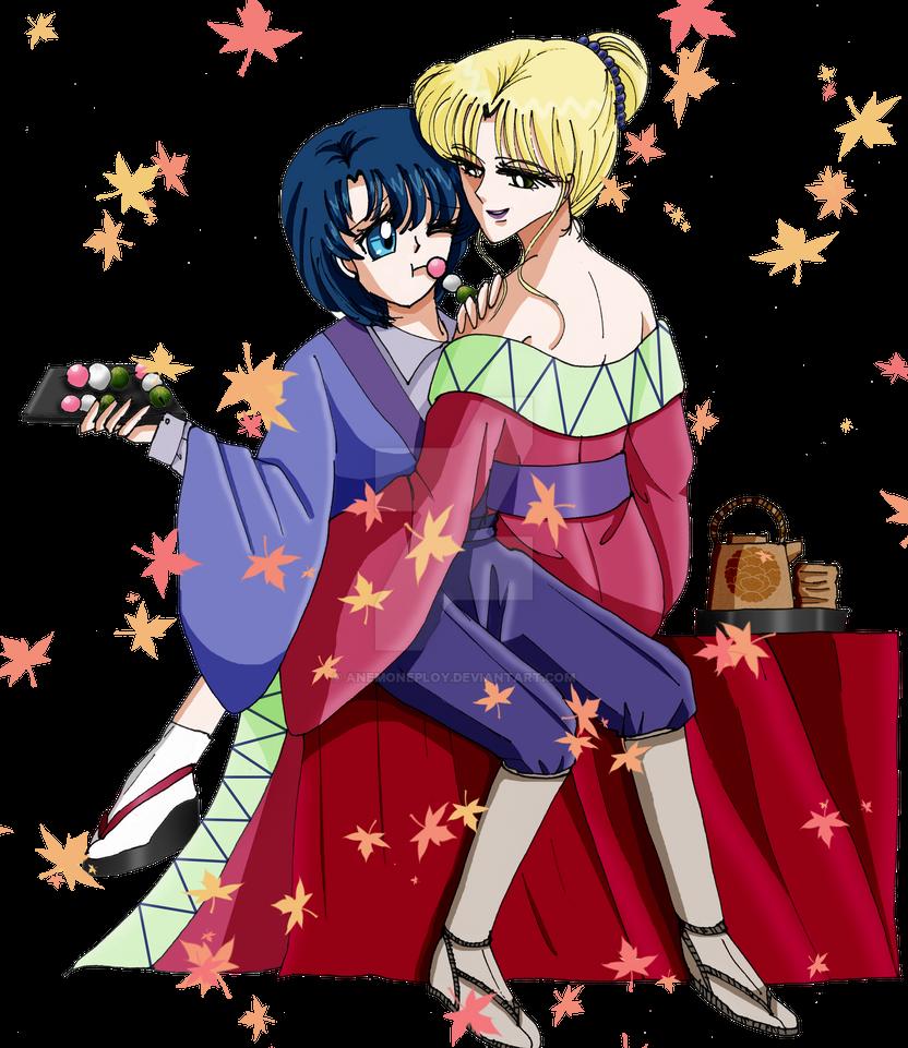 Ami X Zoisite crossover Rurouni Kenshin by anemoneploy