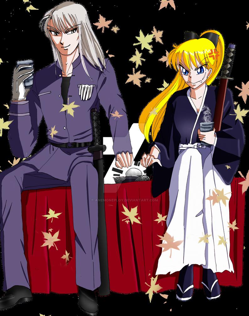 Kunzite x Minako crossover Rurouni Kenshin by anemoneploy