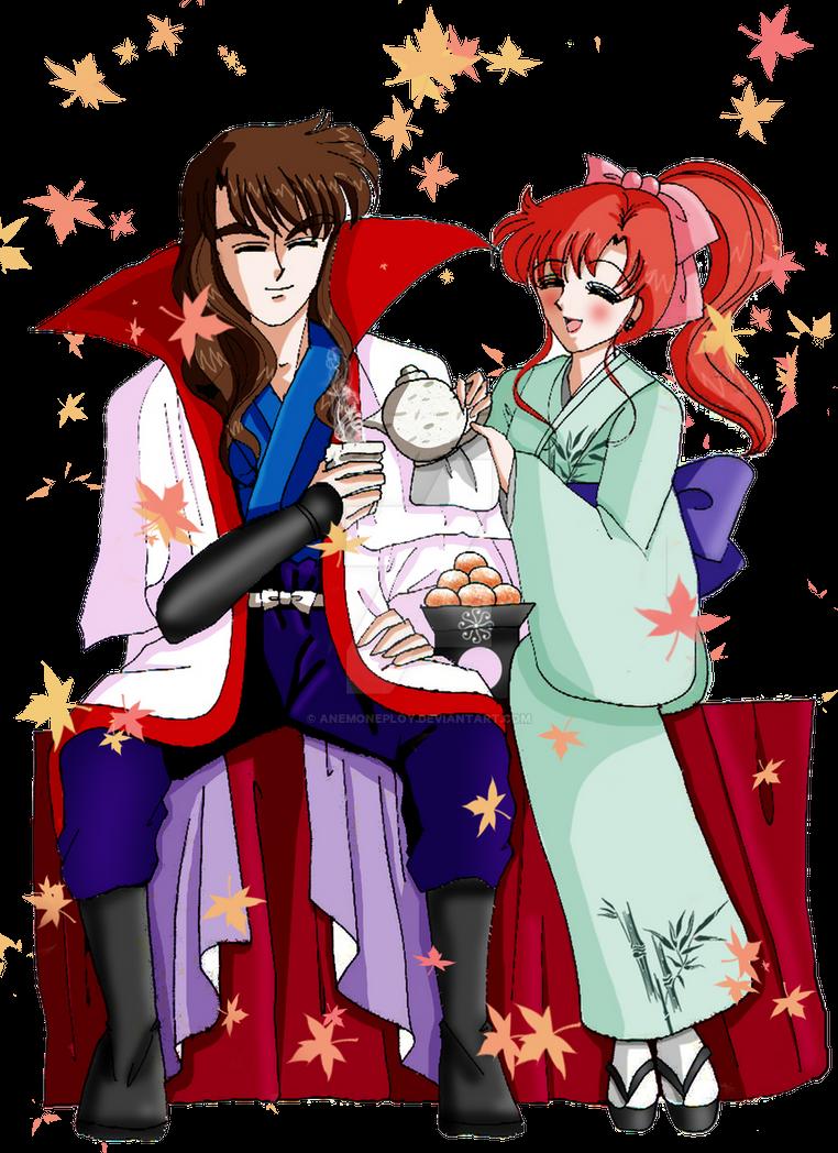 Nephrite x Makoto crossover Rurouni Kenshin by anemoneploy